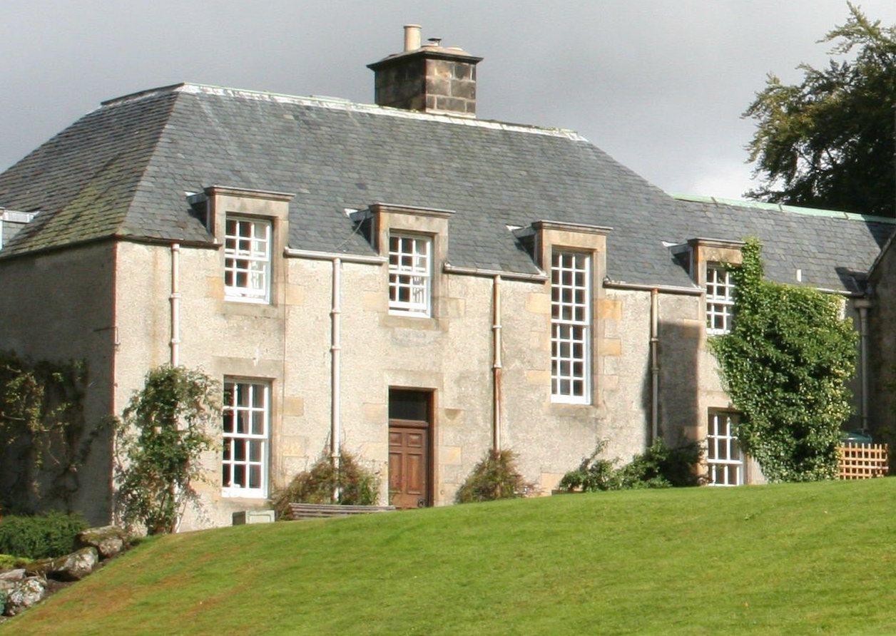 Alvie Estate north wing garden view